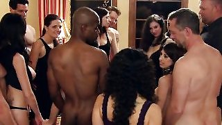 Sexy ebony orgy party